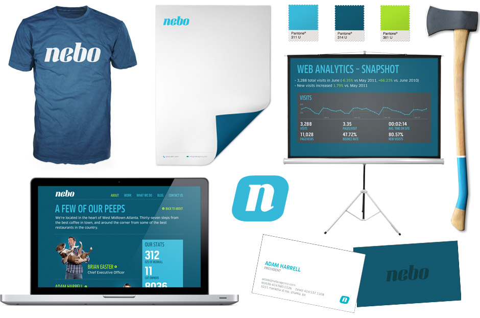 Nebo Agency Brand Applications